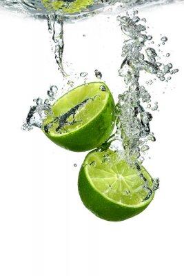 Plakat Lime z kropli wody