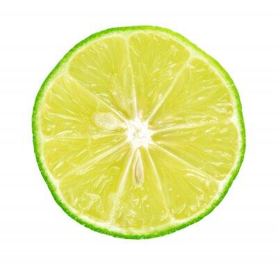 Plakat Limes z plastrami na białym tle