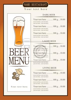 Lista menu do piwa