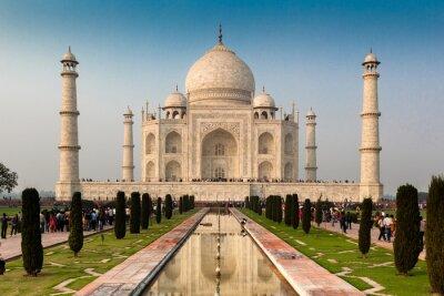 Plakat Listę Światowego Dziedzictwa UNESCO Taj Mahal w Agrze w Indiach