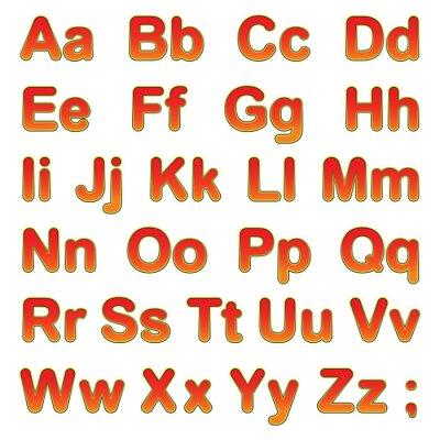 Plakat Litery alfabetu na czarnym tle