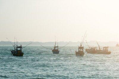 Plakat Łodzie rybackie