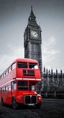 Plakat London Bus i Big Ben