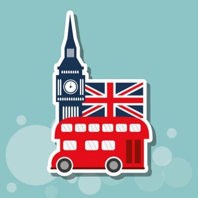 Plakat londyn ikonę projektowania