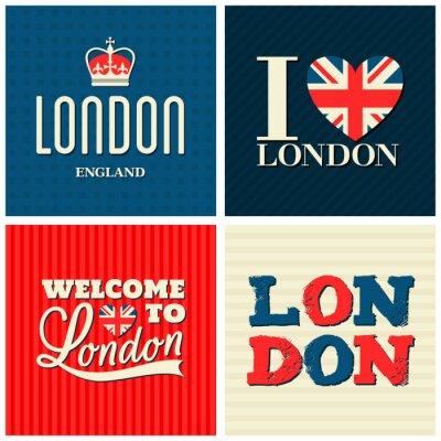Plakat Londyn Karty Kolekcja