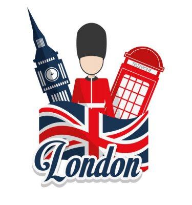 Plakat Londyńskich zabytków projekt