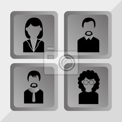 Plakat Ludzie profil projektowe