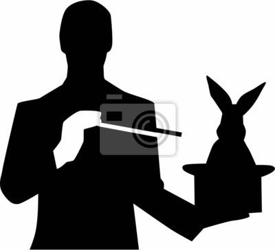 Plakat Magik z kapelusza królika