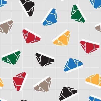Majtki bielizn doodle wektor Seamless Pattern isolated wallpaper background Colorful