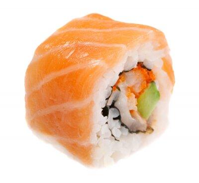 Plakat Maki sushi na białym tle