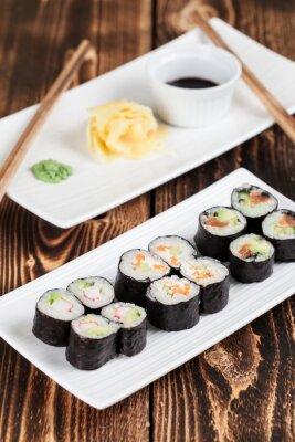 Plakat Maki sushi set