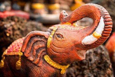 Plakat Małe posąg słonia