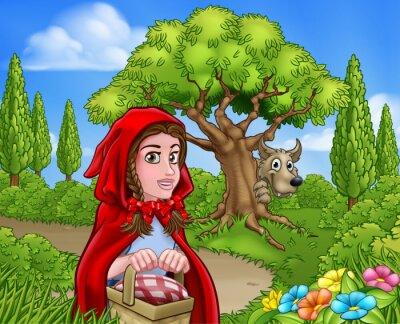 Plakat Mały Czerwony Kapturek i Scena Wolf