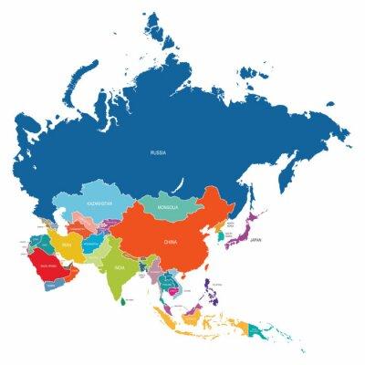 Plakat Mapa Azji