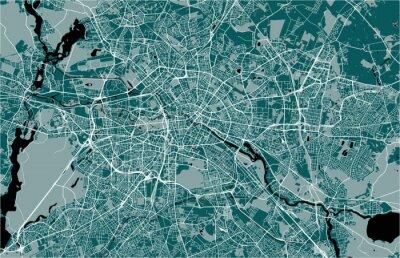 Plakat mapa miasta Berlin, Niemcy