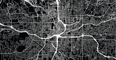 Plakat Mapa miasta wektor miejski Atlanta, Georgia, Stany Zjednoczone Ameryki