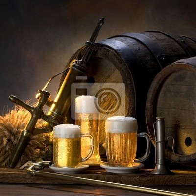 Plakat Martwa Natura Z Piwem