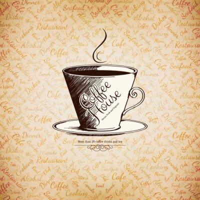 Plakat Menu dla restauracji, kawiarni, baru, kawiarni