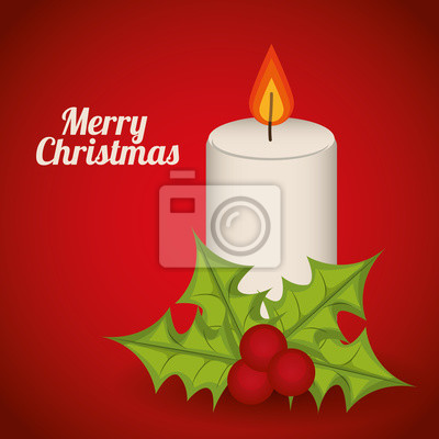Plakat Merry Christmas projektowania