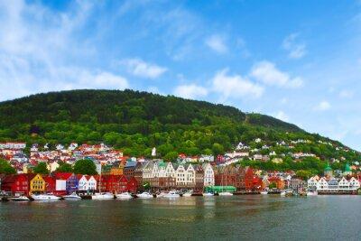 Plakat miasto Bergen, Norwegia