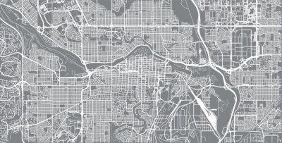 Plakat Miastowa wektorowa miasto mapa Calgary, Kanada