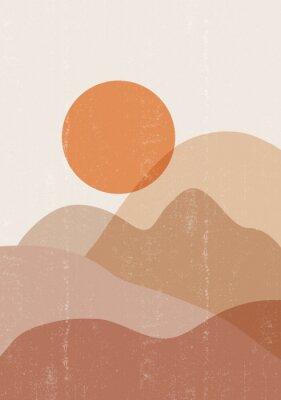 Plakat Mid century sunset print boho minimalist printable wall art
