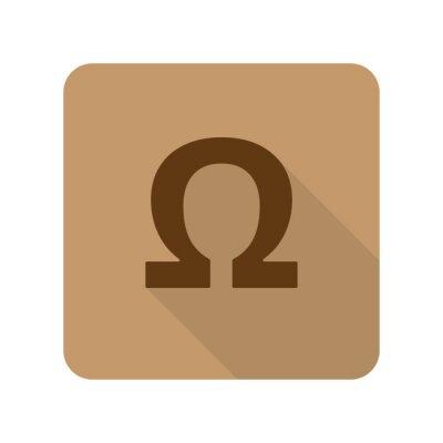 Plakat Mieszkanie w stylu Omega Web App ikonę na jasnym tle brązowy