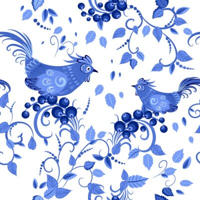 Plakat moda bezszwowych tekstur z stylizowane kwiaty