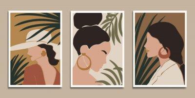 Plakat Modern art prints in boho style. Eps10 vector.