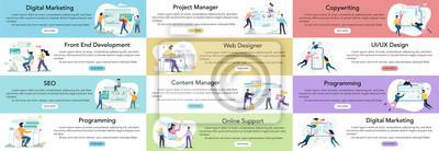 Plakat Modern web business service advert banner or website header.