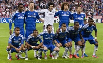 Plakat MONACHIUM, 19 maja - Zespół Chelsea: FC Bayern Monachium przed vs. Chelsea UEFA Champions League gra końcowa na Allianz Arena w dniu 19 maja 2012 roku w Monachium, Niemcy.