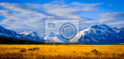 Plakat Montana, USA. Glacier National Park, landscape, autumn