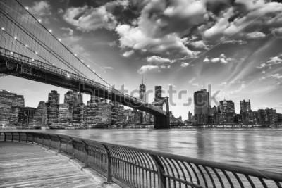 Plakat Most Brookliński w Nowym Jorku.