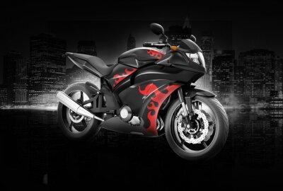 Plakat Motocykl Motocykl Rower konna Rider Współczesna Koncepcja
