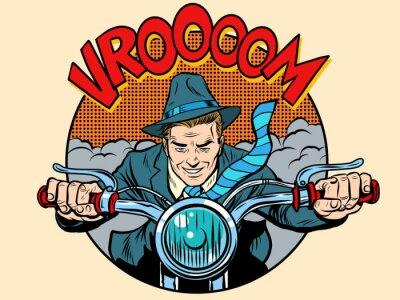 Plakat Motocyklista rider rowerzysta człowiek