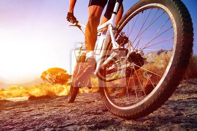 Plakat Moutain bike man