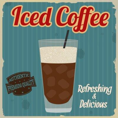 Plakat Mrożona kawa retro plakat