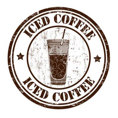 Plakat Mrożona kawa znaczek