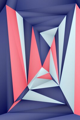 Plakat Multi-color geometric triangular low poly abstract background. Creative illustration in halftone style with gradient. Triangular pattern for your business design.