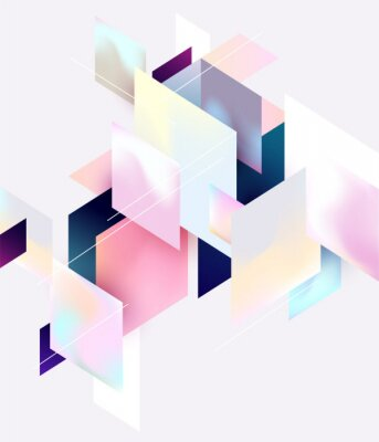 Plakat Multicolored geometric background