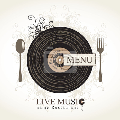 musical menu cafe z sztućce