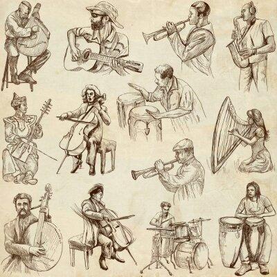 Plakat Muzycy i muzyka na całym świecie (zestaw nr. 2, papier)