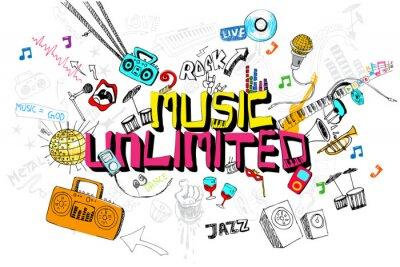Plakat Muzyka bez ograniczeń