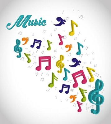 Plakat Muzyka cyfrowego projektowania.