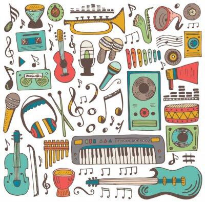 Plakat Muzyka doodle collection