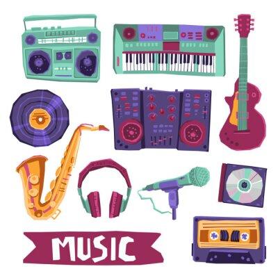 Plakat Muzyka Icon Set