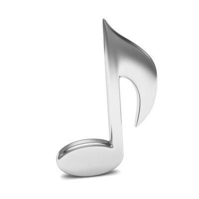 Plakat muzyka notatka 3D, na białym tle