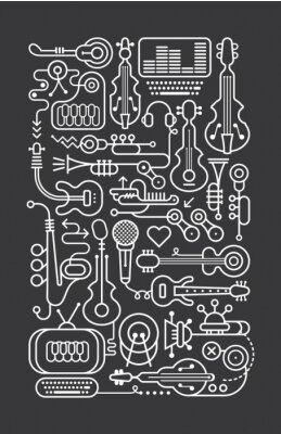 Plakat Muzyka Sklep Art Linia