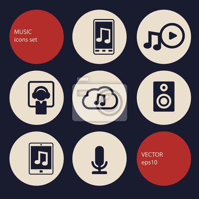Muzyka zestaw ikon