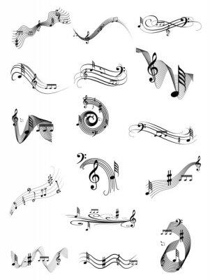 Plakat Muzyka zestaw wirować